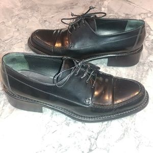 Black leather italian made shoes